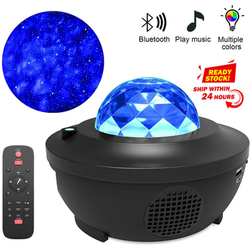 Christmas Colorful Starry Sky Night Light Projector Blueteeth USB Voice Control Music Player Romantic Projection Lamp