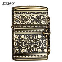 цена на Lighter    Fengfeng Kerosene Lighter Fashion Retro Flower Cross Personality Creative Men's Lighter Gift to Boyfriend