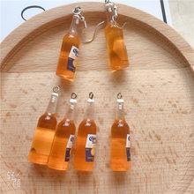 10 pcs/pack bouteille de bière résine boucle d'oreille breloques pour Rarring porte-clés collier pendentif bijoux résultats breloque téléphone