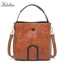 Mododiino Women Handbag Casual Bucket Bag PU Leather Shoulder Bags Brand Designer Crossbody For DNV1150