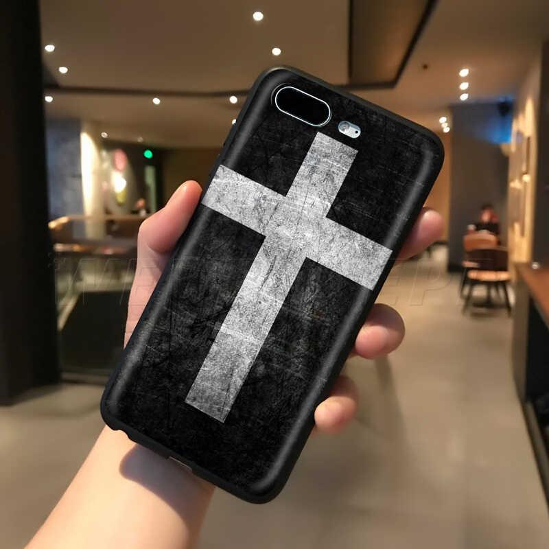 Webbedepp Gesù Croce di Caso per il iPhone di Apple 11 Pro XS Max XR X 8 7 6 6S Plus 5 5S SE