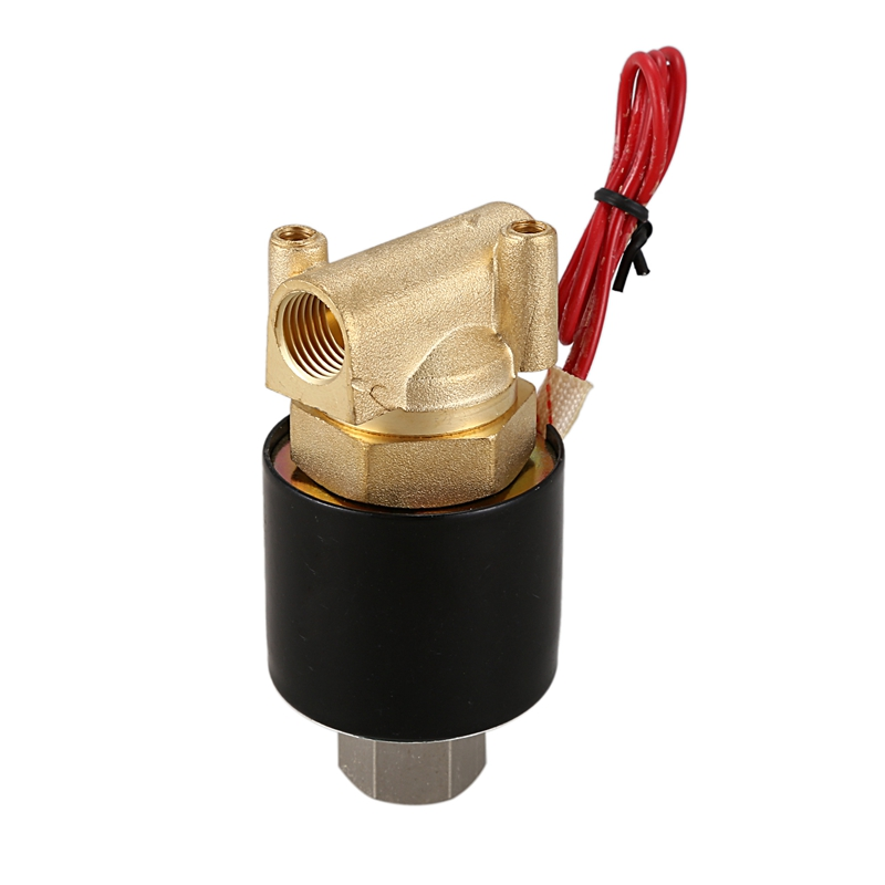 1/4inch DN8 Normally Open N/O Brass Electric Solenoid Valve 220V Pneumatic Valve For Water Oil Gas