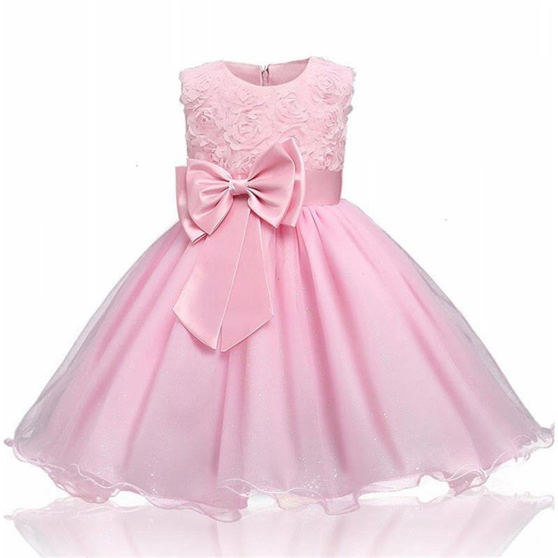 H7864286dedb440e7ab0272800023b9edX Princess Flower Girl Dress Summer Tutu Wedding Birthday Party Dresses For Girls Children's Costume New Year kids clothes
