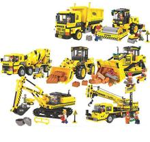 купить Compatible City Construction Dump Truck Building Blocks Sets DIY Bricks Educational Kids Toys For Children онлайн