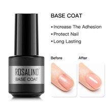Coat Nail-Polish Varnish ROSALIND Gel 7ML 7ml-Base Art-Manicure Uv-Led-Lamp Lacquer Long-Lasting-Gel