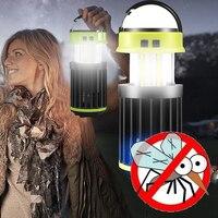 luz camping lampara camping,Luces antimosquitos electrico,portátil, recargable, para Taller, Usb o Solar, repelente de mosquitos