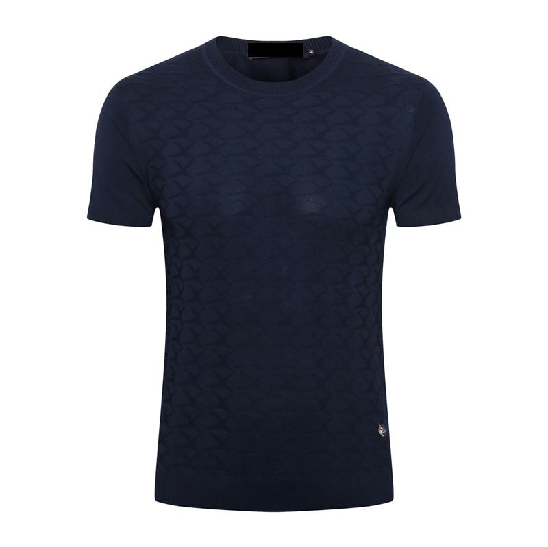 BILLIONAIRE, Мужская шелковая футболка, лето 2020, новинка, тонкая, коммерция, модная, повседневная, с геометрическим узором, высокое качество, для фитнеса, бесплатная доставка - 2