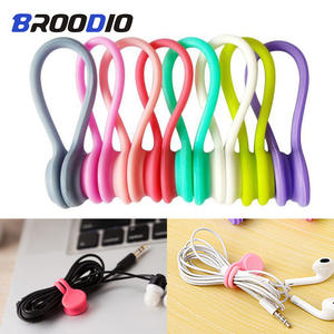 Silicone-Case Organizer Cord-Holder Cable-Cover Winder Wire Charging-Protection Magnetic