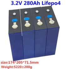 4PCS 3C High discharge high capacity 3.2v 280Ah Lifepo4 battery battery for motorscycle,electric vehicle UPS power supply
