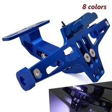 אופנוע לוחית רישוי מחזיק מתכוונן אחורי זנב סוגר LED אור להונדה CBR600 F2 F3 F4 cbr 600 f3 f4i f4 f2 PCX 150