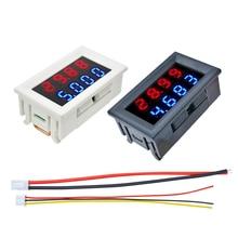 Двойной светодиодный дисплей, цифровой вольтметр, амперметр постоянного тока 100 в, 200 в, 10 А, функция измерения напряжения, детектор напряжен...