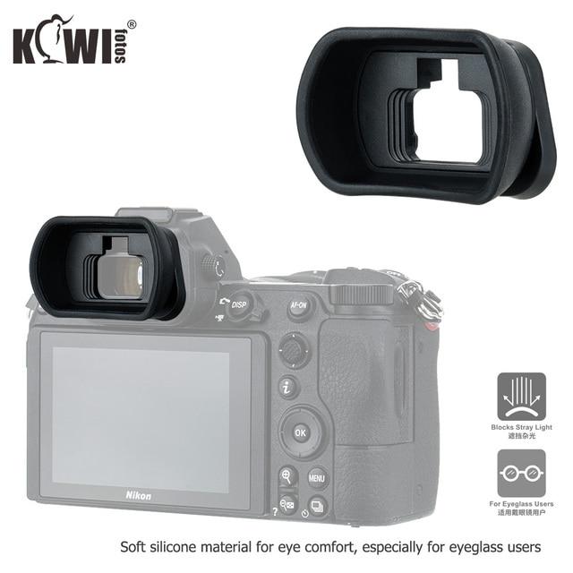 Kiwiนุ่มซิลิโคนExtendedกล้องEyecupช่องมองภาพสำหรับNikon Z5 Z7 Z6 Z6II Z7IIยาวEye Eye Eyeshadeแทนที่DK 29