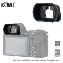 Kiwi miękkiego silikonu rozszerzony aparat Eyecup wizjer okular dla Nikon Z5 Z7 Z6 Z6II Z7II długie oko puchar Eyeshade zastępuje DK 29