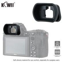 Kiwi visor de silicona blanda con copa ocular extendida para cámara, ocular para Nikon Z5 Z7 Z6 Z6II Z7II, ocular de copa larga, sustituye a DK 29