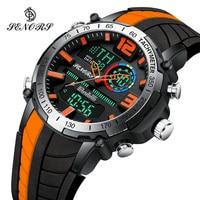 Senors Digital Watch Men Sports Watches Fashion Dual display Men\'s Waterproof LED Digital Watch Man Military Clock Relogio