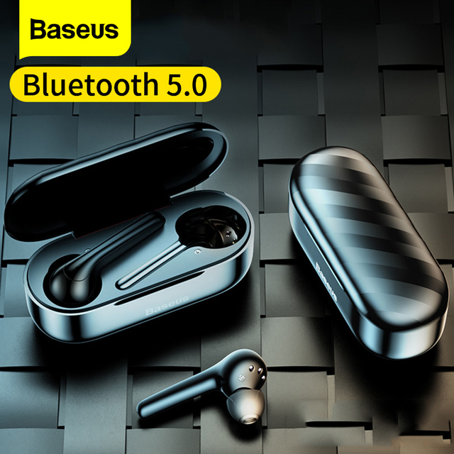 Baseus W07 Bluetooth Earphone TWS with Dual Noise reduction Mic