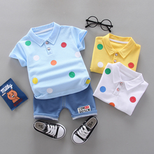 IENENS Summer Infant Cotton Short Sleeves Clothes Tops + Pants Baby Toddler Boy Clothing Sets Kids Children Boys Outfits Suits