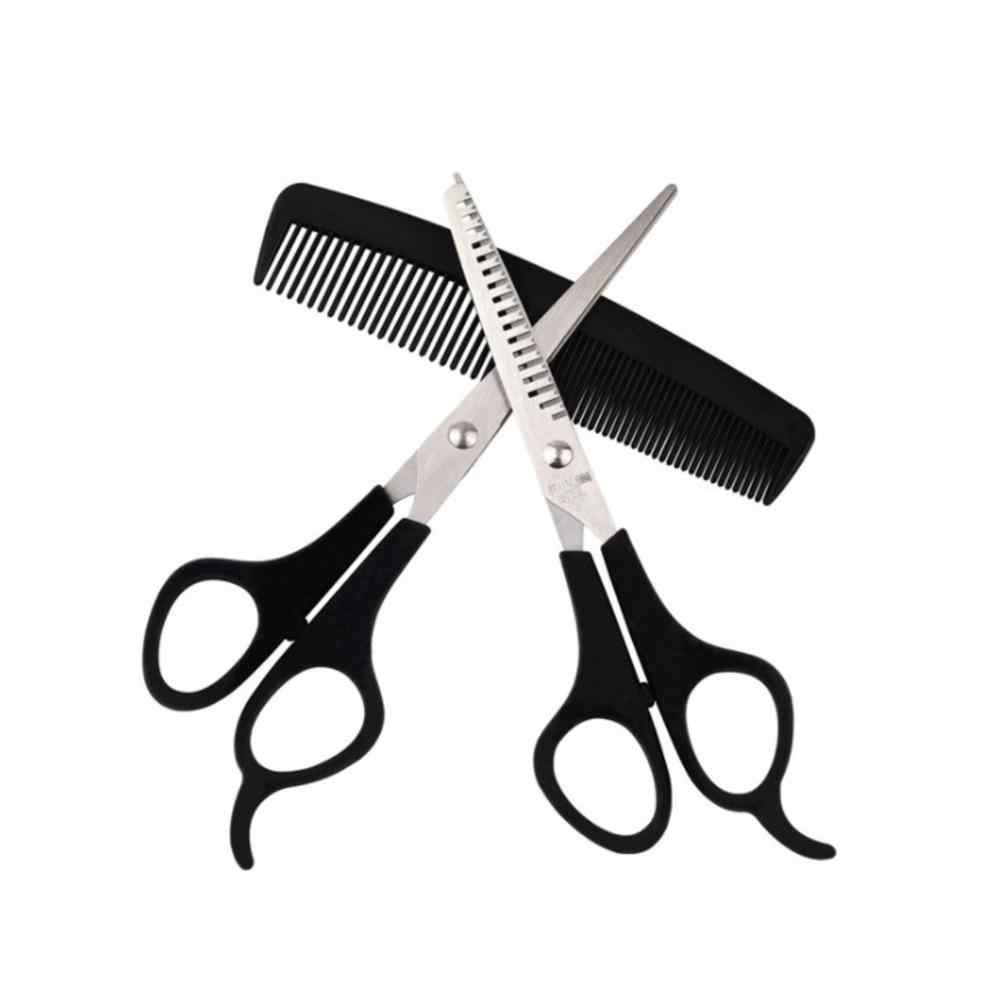 3 sztuk/zestaw nożyce do cięcia włosów ze stali nierdzewnej Salon profesjonalny fryzjer ścinanie włosów nożyce do cieniowania narzędzie do układania włosów