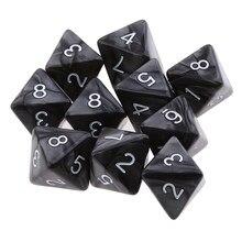 10 peças 8 face dados d8 poliédricos dados para dnd festa mesa jogos de tabuleiro jogo dados