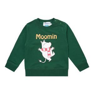 Image 2 - Moomin spring summer long sleeve thick tshirt cartoon Chrismas Finland cotton tshirt green o neck