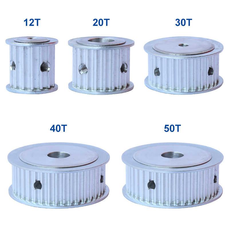 Polia cronometrando 5 m-30 t furo 5/6/6.35/8/10/12/12.7/14/15/16/17/18/19/20/22/25mm polia de alumínio para largura 15/20mm 5m-correia dentada