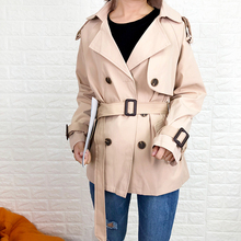 women coat european 2019 popular new British wind with a short windbreaker jacket early autumn tide
