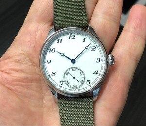 Image 3 - Nieuwe Mode 44 Mm Geen Logo Emaille Witte Wijzerplaat Aziatische 6498 17 Juwelen Beweging Mannen Mechanische Horloges GR47 20
