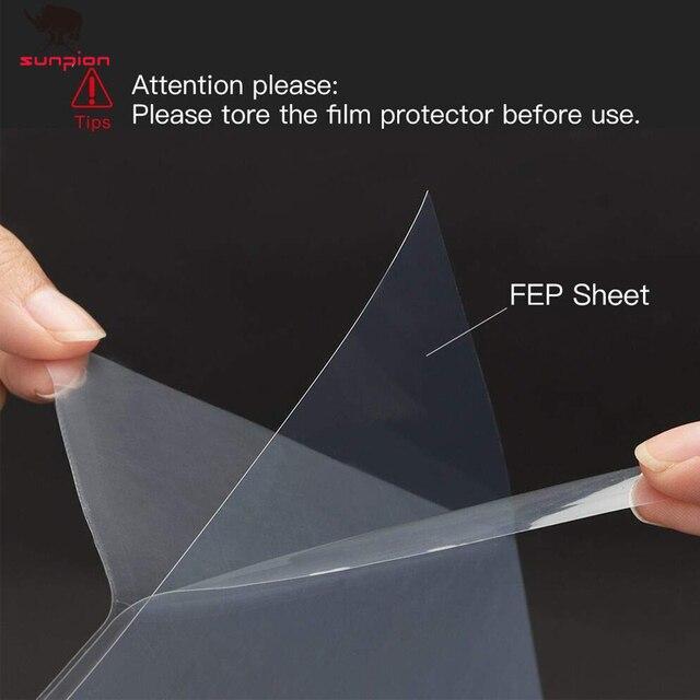 140x200mm SLA/LCD folia fep 0.15-0.2mm grubość dla fotonowej żywicy DLP 3D drukarki dla Elegoo Mars Wanhao duplikator D7, Photon