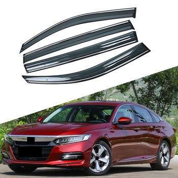 For HONDA ACCORD 10th Generation 2017 2018 2019 Car Window Sun Rain Shade Visors Shield Shelter Protector Cover Frame Sticker
