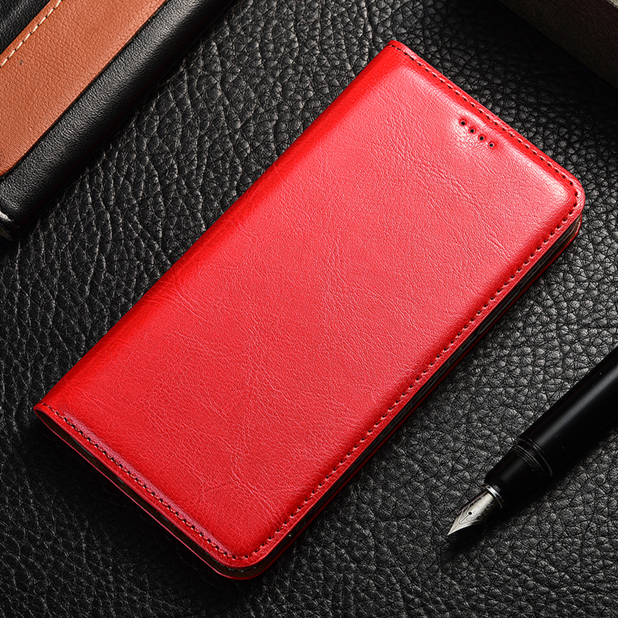 Genuine Leather Flip Case For Samsung Galaxy A10 20 30 40 <font><b>50</b></font> 60 70 <font><b>80</b></font> 90 e s 5G crazy horse Holder Back cover bags funda image