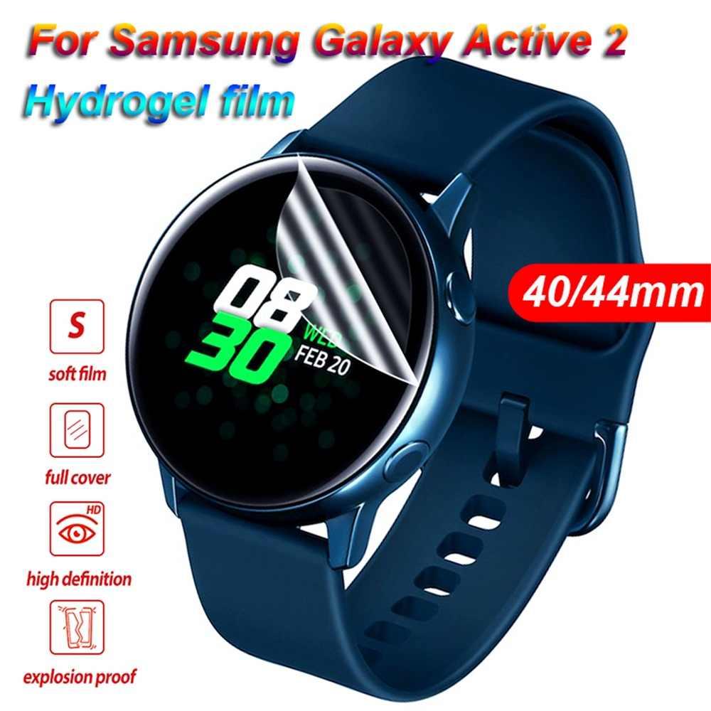 Pellicola protettiva Per Samsung Galaxy Orologio Attivo 2 40 millimetri 44 millimetri di Vetro Temperato 3D Protezione Dello Schermo Morbido In Fibra Di Vetro film a Schermo intero