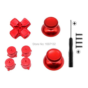 Image 5 - PS4 Thumb Grip Metal Thumb Grips Aluminum Replacement ABXY Bullet Buttons Thumbsticks Chrome D pad for Sony Playstation 4