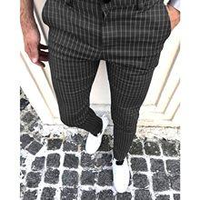 Pantalon à carreaux pour homme, coupe ajustée, imprimé, décontracté, tendance, jambes amples, Harem, sport, collection automne 2021