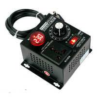 4000 Вт высокомощный двигатель вентилятор 220 в переменный Электронный регулятор напряжения контроллер двигателя с регулируемой ручкой