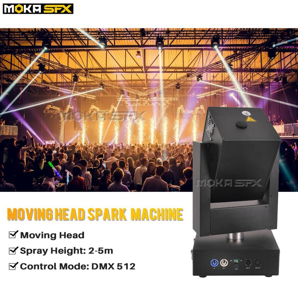 1pcs/lot  Moving Head Cold Spark Machine Firework Spray 5 Meters DMX Wedding Machine For Party Decoration