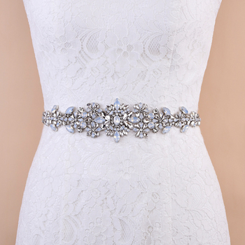 TRiXY S325-P Sparkly Women's Belt Wedding Belt Blue Rhinestone Belt Opal Diamond Bridal Belt Jeweled Belts Bridal Dress Belt фото