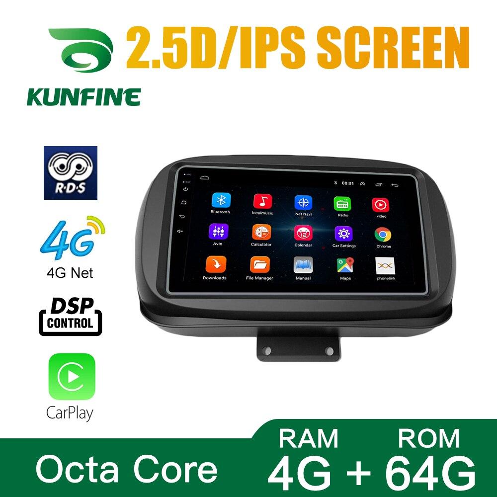 Octa Core Android 10.0 Navigazione Dell'automobile DVD GPS Lettore Deckless Auto Stereo per FIAT 500X 2014 Radio WIFI Headunit