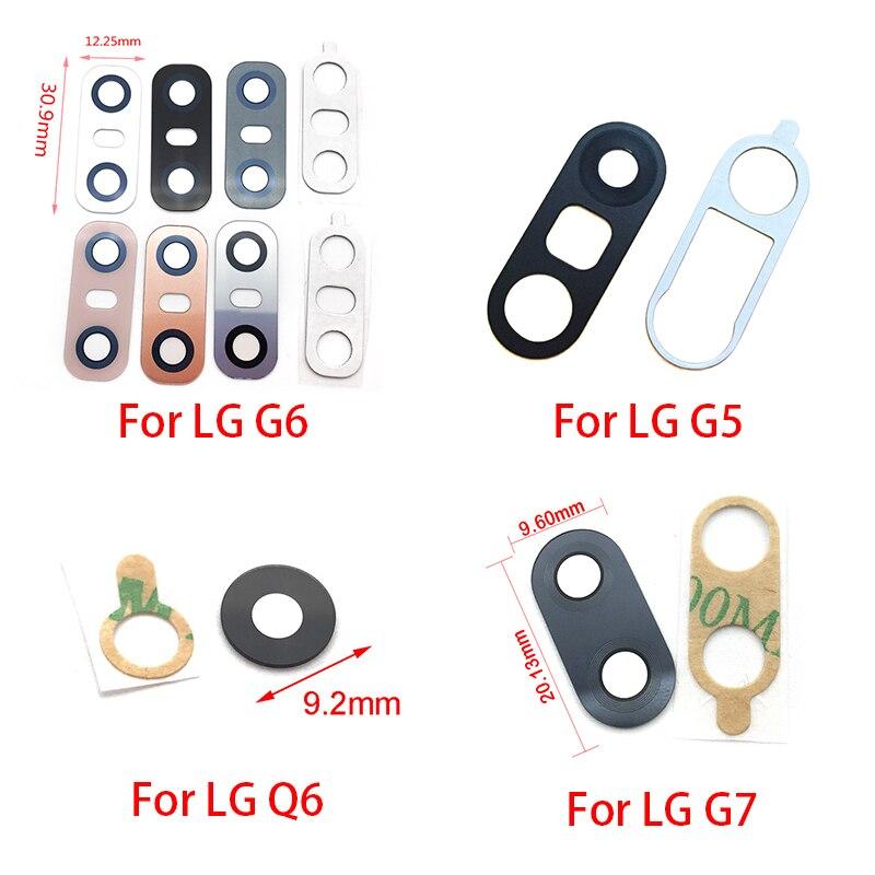 2pcs/lot Rear Back Camera Glass Lens For LG V20 V30 G2 G5 G6 G7 Q6 K8 2017 Camera Glass With Glue Adhesive