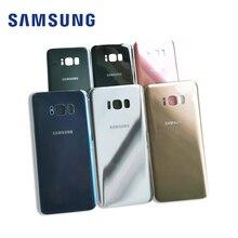 10 pcs Peças de Reposição Voltar vidro Traseiro Da Bateria Tampa Da Caixa Para Samsung Galaxy S8 Plus S8 s8 + G955 g955F G950 G950F