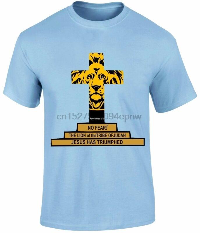 Geen Angst Openbaring 55 Jezus Heeft Triumphed Christian Heren T-shirt Top Gift