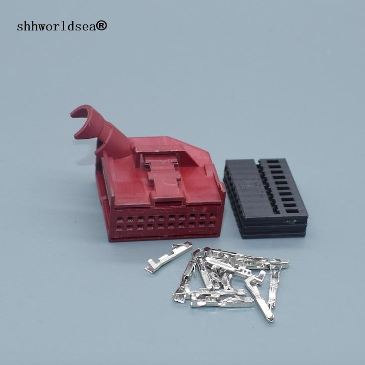 Shhworldsea 1/2/5/10/30/50/100sets 20 Pin 8E0972420  Car Gateway CANBus Wire Plug Auto Cable Socket 8E0 972 420 For VW