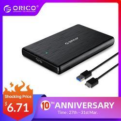 Orico HDD 2.5 SATA Sang USB 3.0 Ổ Cứng Cho SSD Đĩa HDD Box Loại C 3.1 Ốp Lưng hỗ Trợ UASP HD Ngoài Đĩa