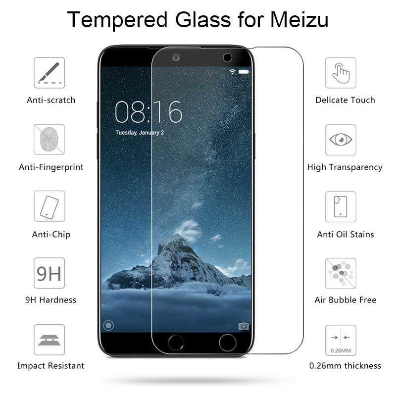Szkło hartowane dla Meizu Pro 7 6 Plus 5 uwaga 9 8 bezpieczeństwa szkło 9H Film HD ochraniacz ekranu do Meizu MX6 MX5 MX4 MX3 MX2