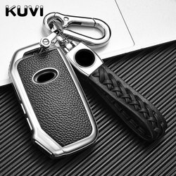 TPU Leather Car Remote Key Cover Case Protect Shell Fob For KIA Sportage R Stinger GT Sorento Cerato Forte Ceed CD Accessories