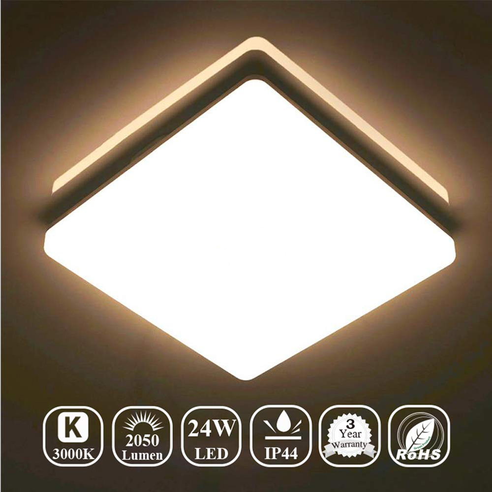 Modern Surface Mounting LED Ceiling Light AC85-265V Square Round For Kitchen Bedroom Bathroom Ultrathin Lamps Home Decoration