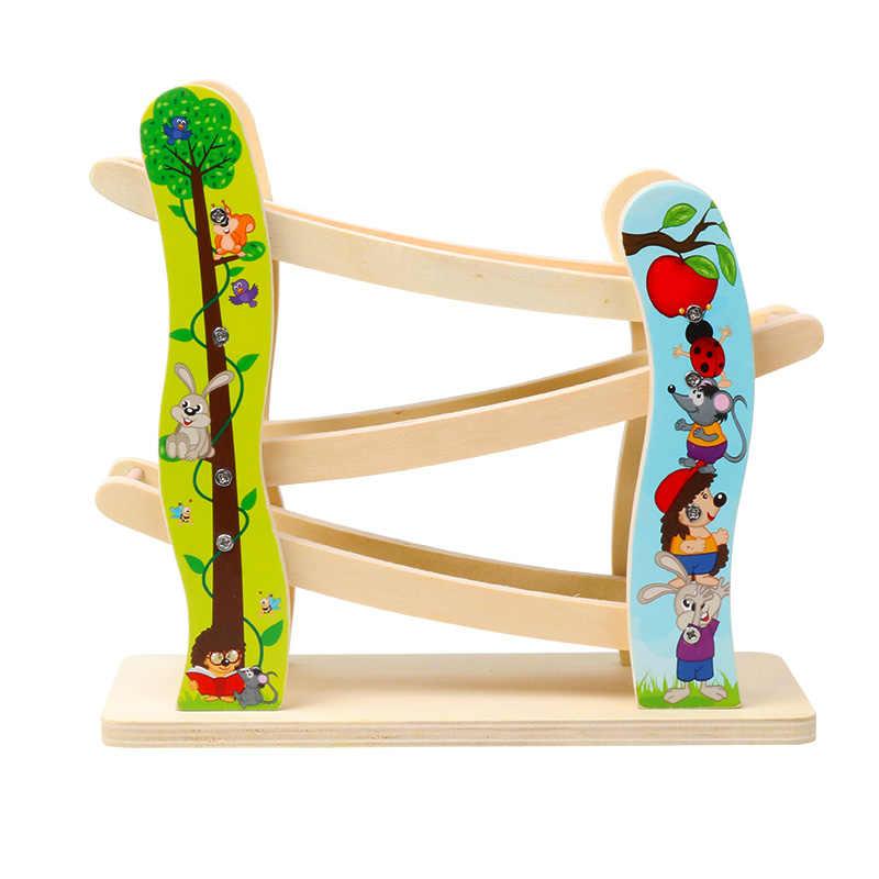Regalo de Navidad para niños, juguetes de madera para carreras de coches, 3 pistas de juguete, rampa para coches de carreras, pista para bebés, juguetes para niños y niñas