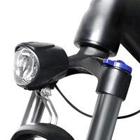 Luz da bicicleta elétrica 6v frente led farol ebike luz da bicicleta lâmpada de aviso segurança recarregável acessórios da bicicleta