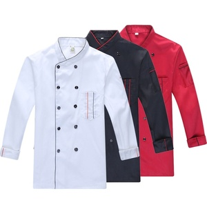 Spring /summer Catering uniform long sleeve men chef jacket kitchen work uniform hotel women waiter restaurant clothes