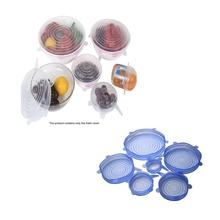 Food Grade Silicone Fresh Cover Universal Bowl Cover Sealing Film Cover Multi-Function Universal Stretch Leakproof цена 2017