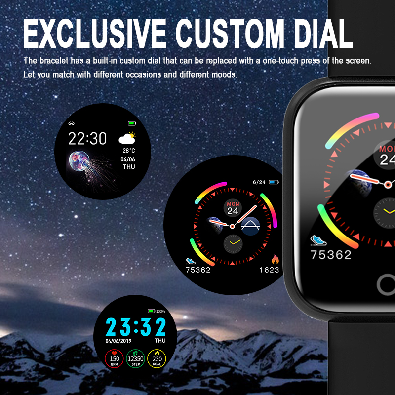I5 for Apple Watch Pedometer Music Control Multiple Dials Heart Rate Fitness Smartwatch Men Women Android IOS VS B57 Smart Watch 5